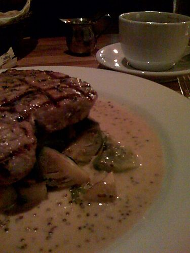 Porkchop, Brussels Sprouts and Americano
