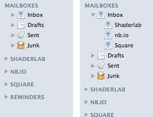 Apple Mail Inboxes